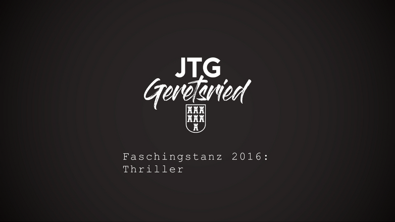 Faschingstanz 2016: Thriller