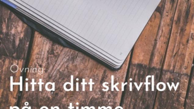 Hitta ditt skrivflow på en timme
