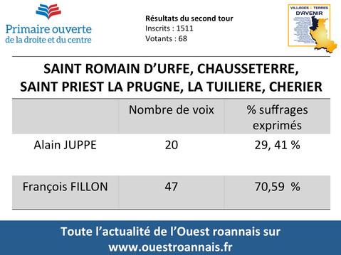 Primaire de la droite : François Fillon en tête dans tout l'Ouest roannais