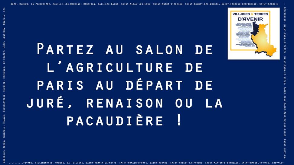 Le 24 février, visitez le salon de l'agriculture de Paris au départ de l'Ouest roannais !