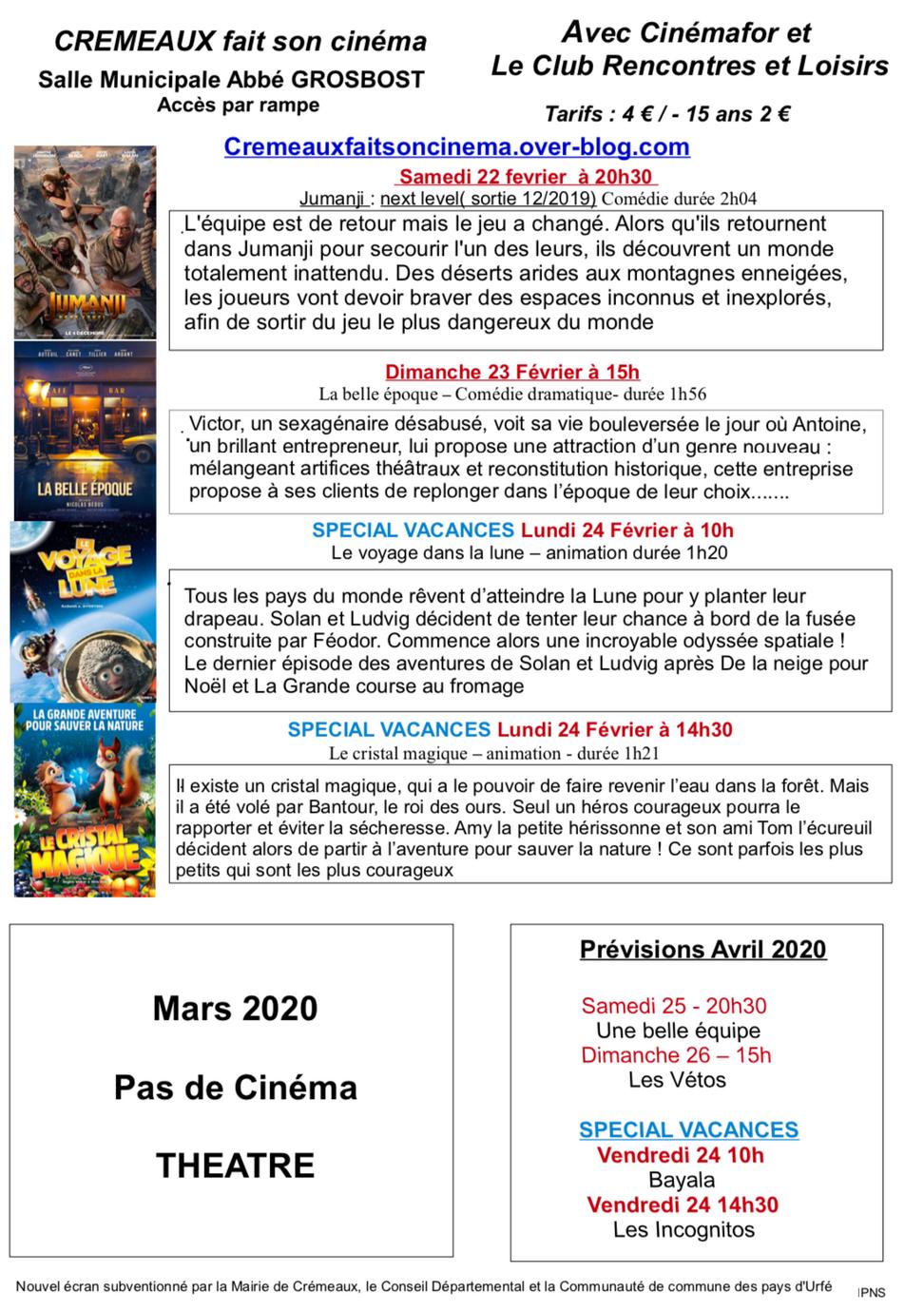 Une association mobilisée pour continuer à faire vivre le cinéma à Crémaux