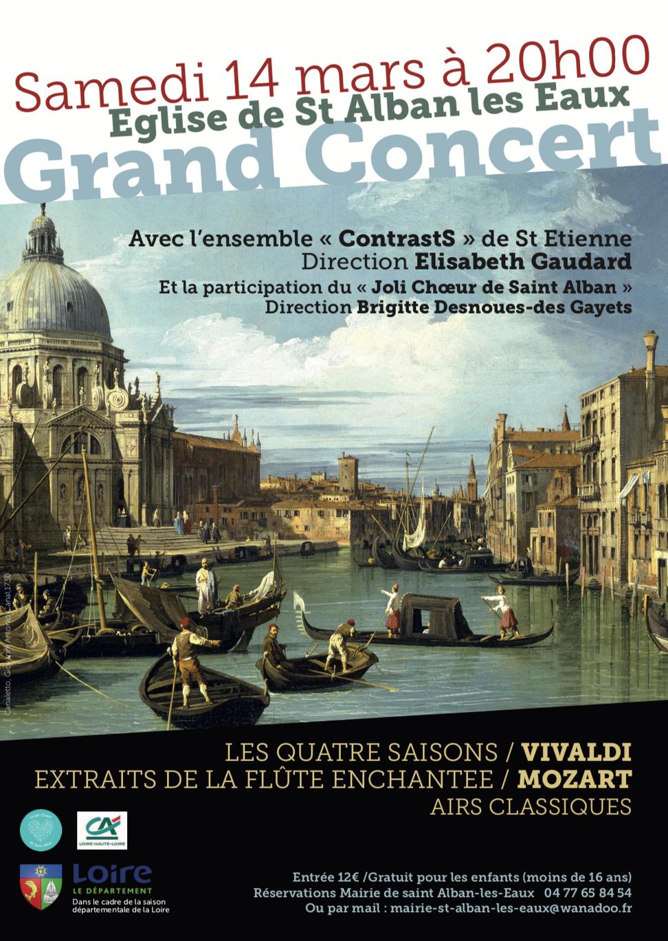 Vivaldi et Mozart s'invitent à Saint Alban les Eaux