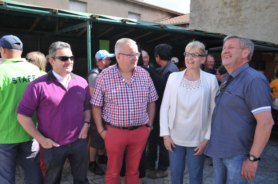 Gilles PASSOT, Pierre DEVEDEUX, Huguette BURELIER et Patrice ESPINASSE