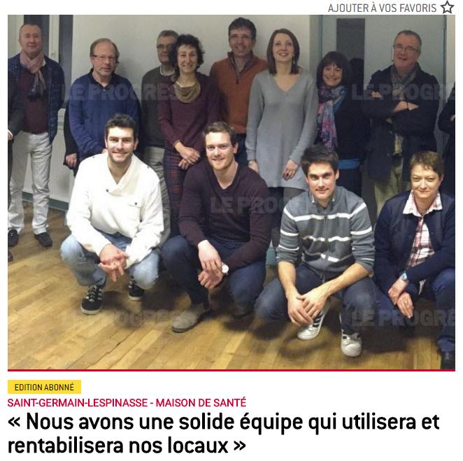 Article du Progrès Saint Germain Lespinasse du 14 juillet 2016