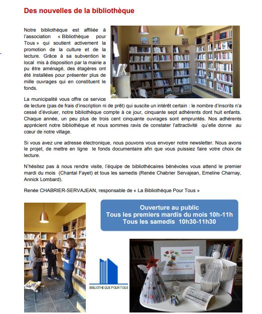 Une bibliothèque de plus en plus vivante à Vivans