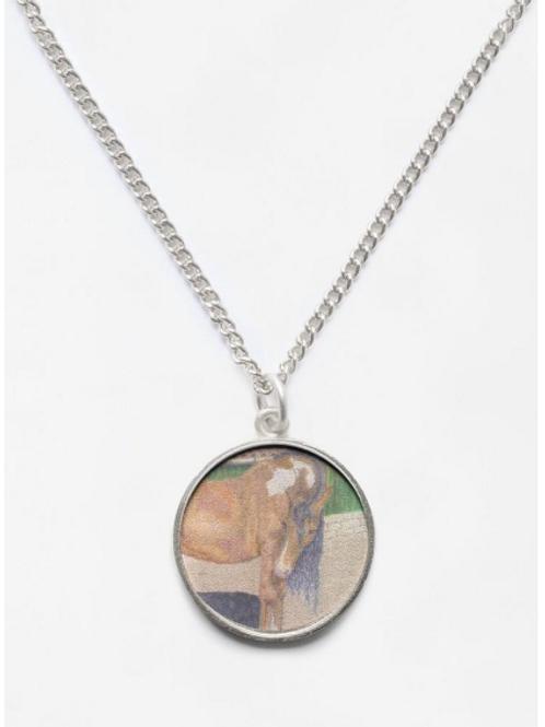 Aces Diamond Rio Portrait Beveled Round Necklace Pendant and Chain
