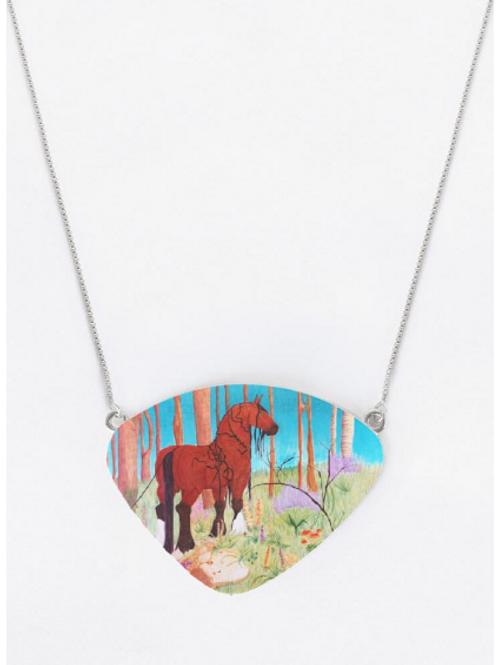 Sirona Portrait Oversized Statement Necklace Pendant on Chain