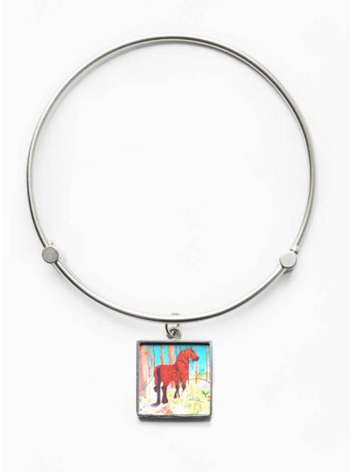 Sirona Portrait Square Beveled Charm Bracelet