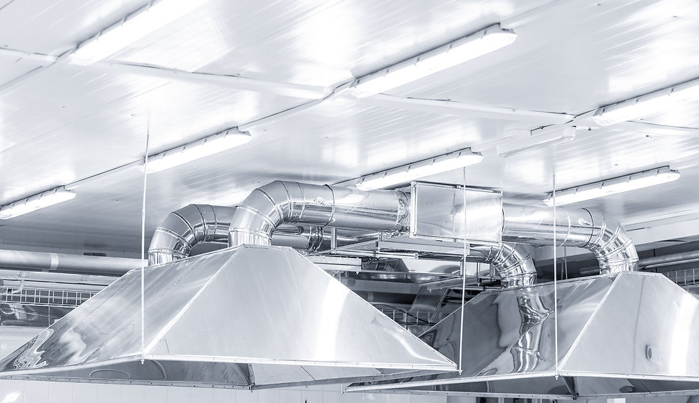 Ventilation system extraction hood supply
