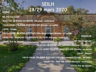 Stage inédit - 28/29 mars 2020 - Seilh