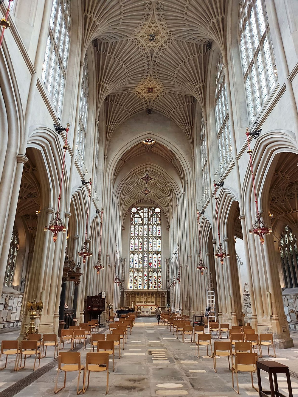 The interior of Bath's beautiful Abbey