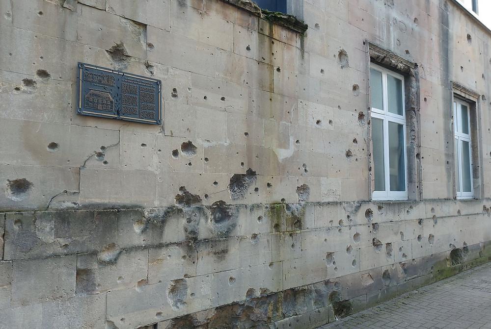 Bo,mb damage from the Bath Baedeker Raids