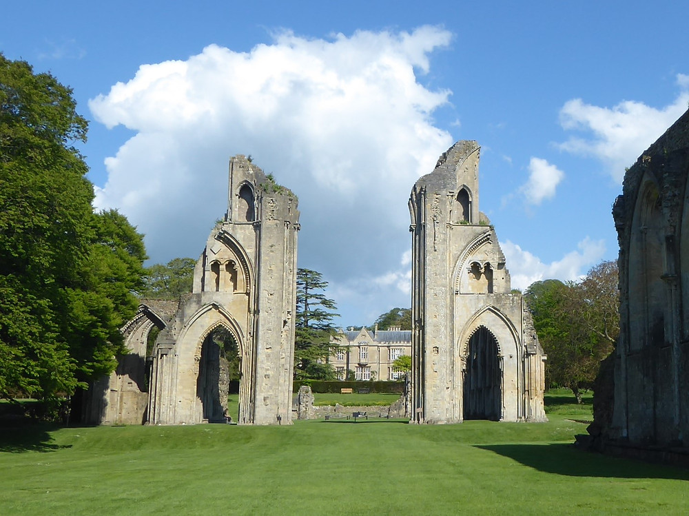 The grounds and ruins of Glastonbury Abbey are open (Wednesday-Sunday)