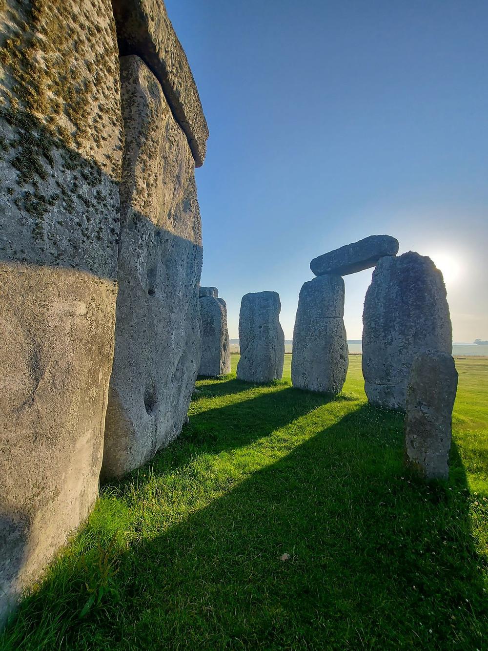 Sun rise and shadows at Stonehenge