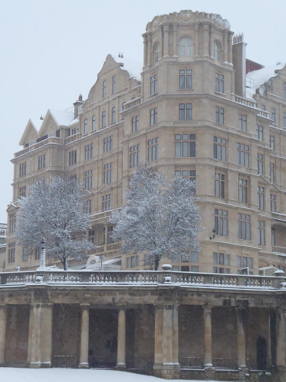Bath Empire Hotel in winter - Bath Insider Tours