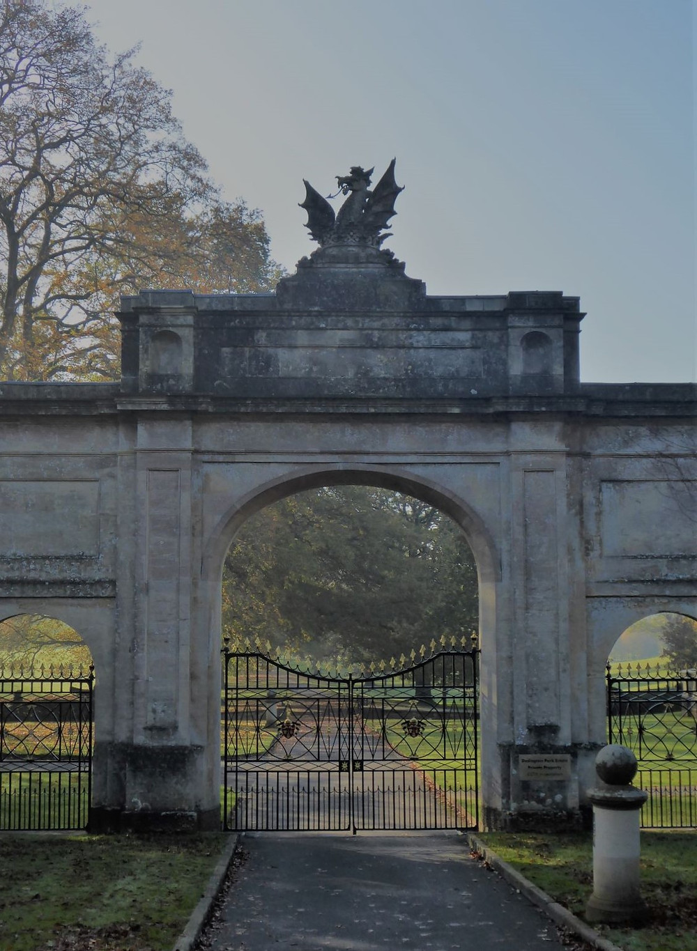 Stately Home gates closed