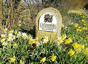 Cotswolds sign - Tour from Bath