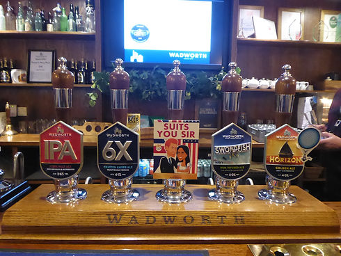 The bar at the Wadworth Brewery - Stonehenge and brewery tour from Bath