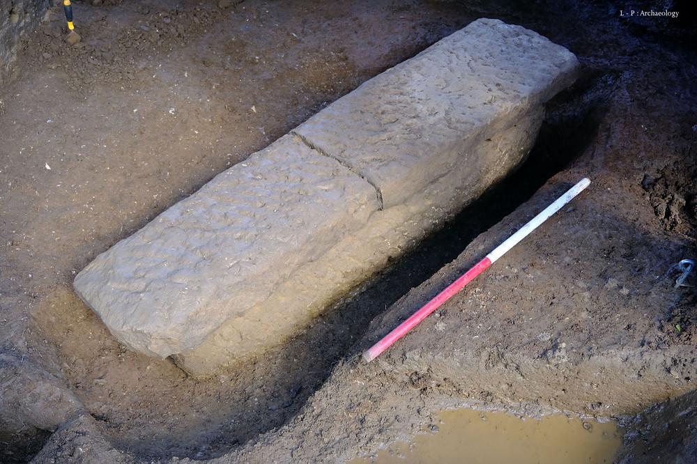 The Roman Coffin found in a park in Bath