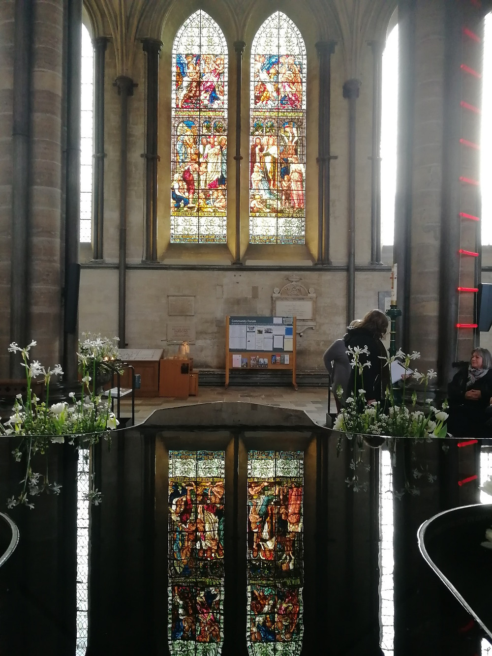 Salisbury Cathedral font by Bath Insider Tours