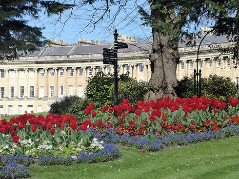 Royal Crescent seen during Bath walking tour