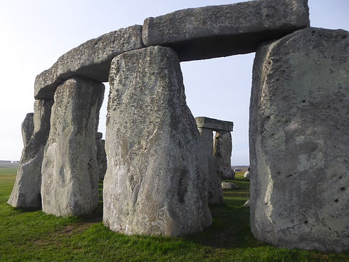 Bath and Stonehenge Tour from Bath - close-up of the stones at Stonehenge