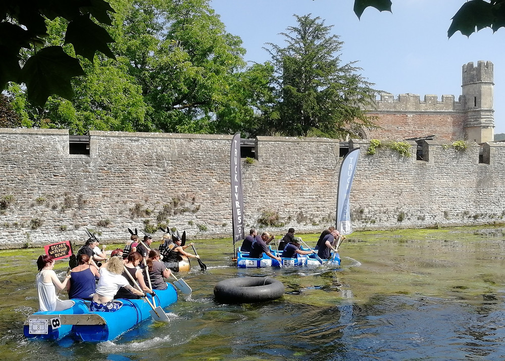 Wells Moat Boat Race in Somerset