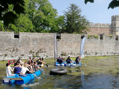 Wells and the Wells Moat Boat Race!