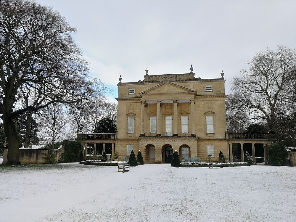 Bridgerton Lady Danbury house in snow