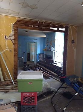first floor prior to pocket doors and cl