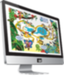 Explorer map for Stratford-upon-Avon Butterfly Farm designed by Chris Wheeler Graphic Design
