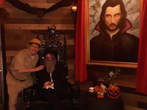 Exploring Dracula's lair!