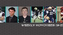 CSFL Week #2 Honorees (9-27-21)