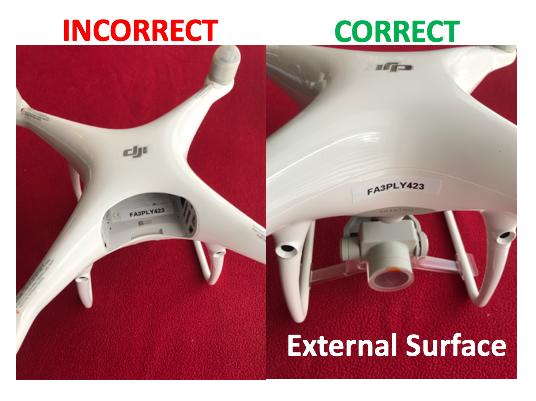 Proper Drone Marking & Identification