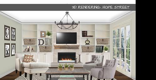 3D interior design rendering