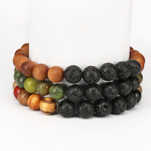 Healing Lava Beads with Sandalwood