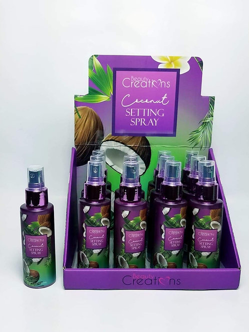 Beauty Creations Fijador de maquillaje aroma coco   iluvit