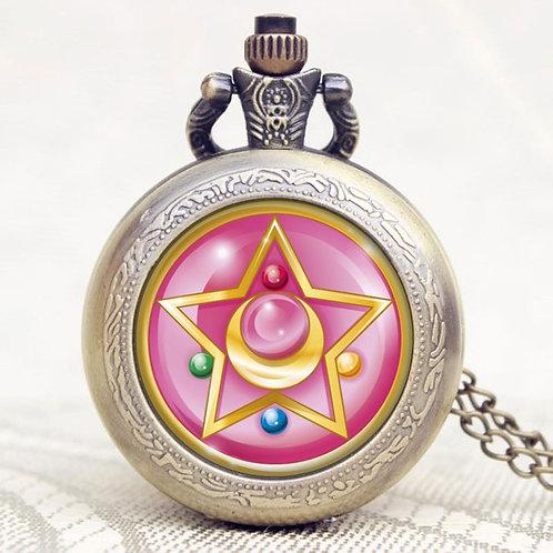 Reloj de bolsillo Sailor Moon rosa