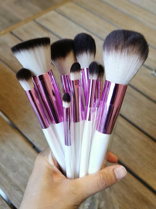 Set de brochas White And Pink