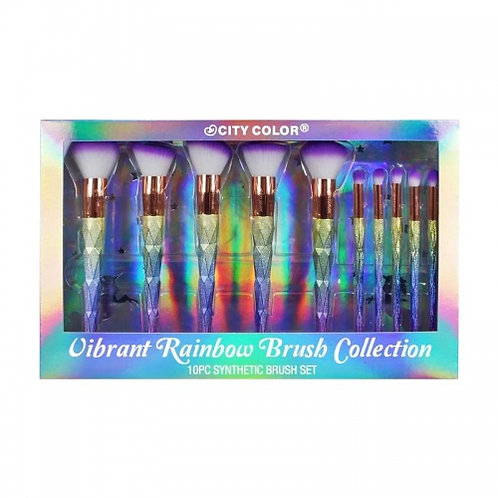 Set de brochas Vibrant Rainbow Brush Collection