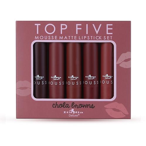 Set Mousse Matte Lipstick - Chola browns
