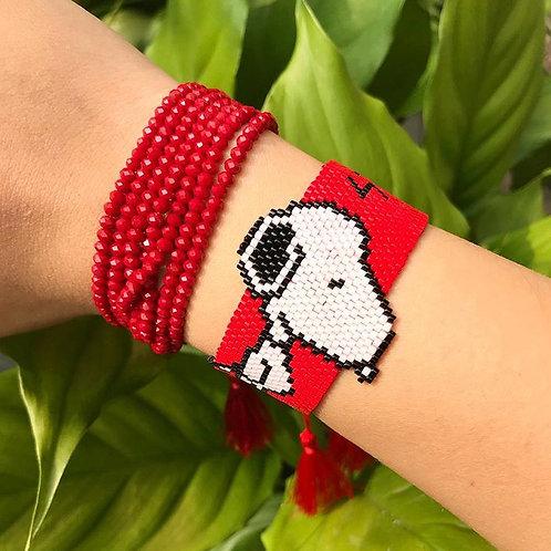 Pulsera miyuki Snoopy