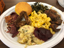 Thanksgiving Soul Food Lunch Plate