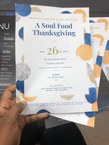 Thanksgiving Soul Food Lunch Poster