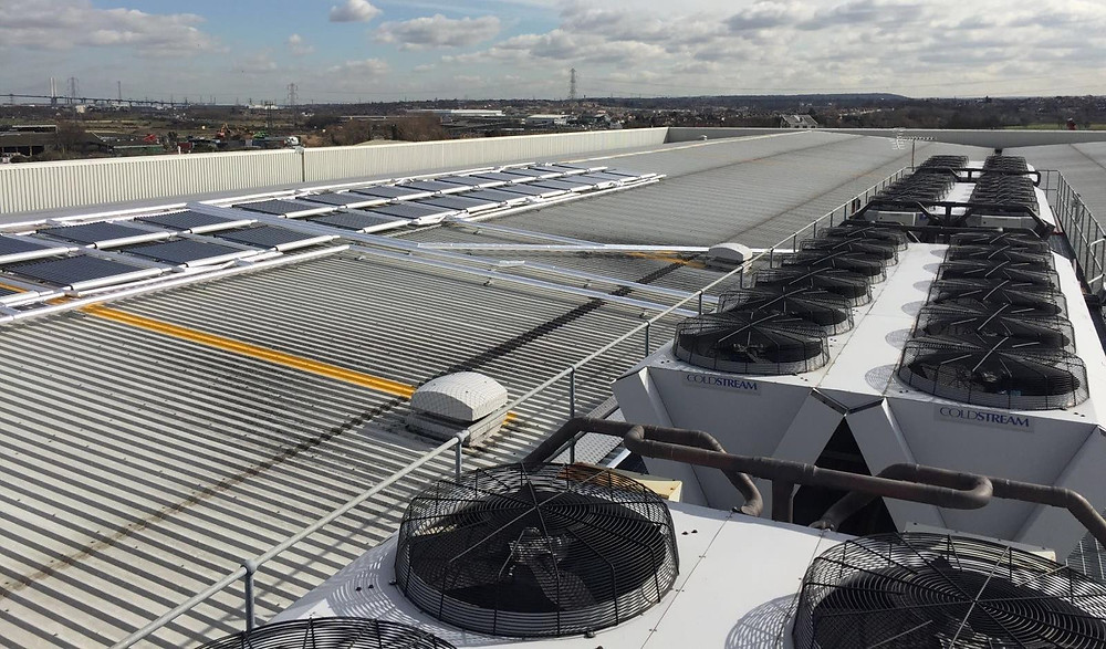 Solar Cooling system installation at Chingford Fruits, Dartford Kent