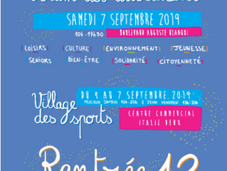 Samedi 7 septembre, rendez-vous au Forum des associations !