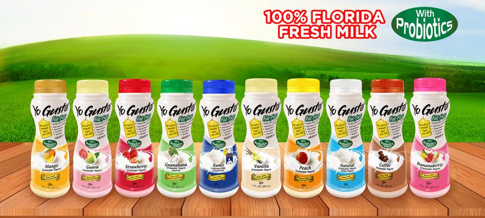 Drinkable Yogurt available in major supermarkets