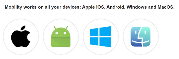Apple IOS, Android, Mac, PC, Windows