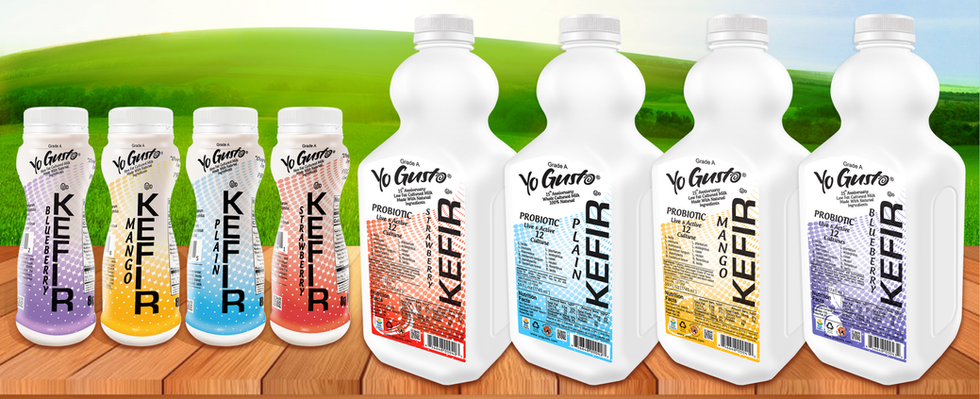 Drinkable Kefir products available in major super markets