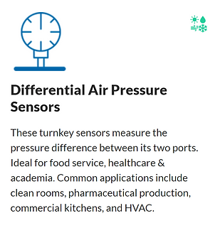 Wireless Differential Air Pressure Sensor installs to remotely monitor filters, systems, and components. Be sure equipment is at peak—whether ventilating temporary medical crisis tents or an R&D cleanroom. #warehousing #logistics Remotely monitoring air pressure helps facility managers keep air filters clean, HVAC systems performing optimally, and extends system longevity.